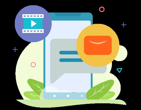 send short e-mails via SMS